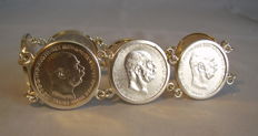 Heavy coin bracelet Austria / Hungary around 1916