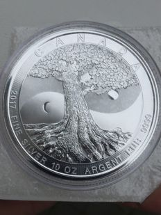 Canada - 50 can $ - 10 oz 999 silver coin of silver tree of life - Canada the great 2017
