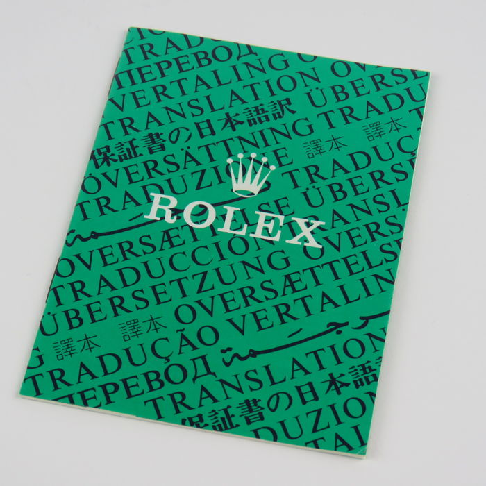 Rolex Vintage Translation Booklet