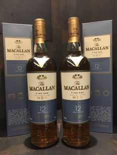 Macallan 12 Fine Oak 700ml x2
