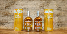 Bruichladdich Islay Barley Rockside Farm 2007 in original tins - 2 Bottles