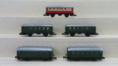 Arnold N - 5 passenger coaches of DRG