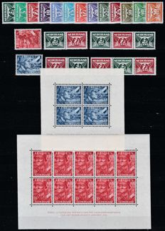 The Netherlands 1941/1942 - Flying pigeon and Legion - NVPH 379/391, 379a/d, 402/403, 402B/403B