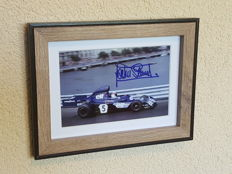Jackie Stewart - 3-time world champion Formula 1 - hand-signed Monaco framed photo + COA