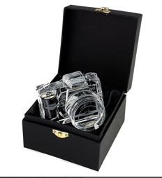 Nikon D90 DSLR Camera  - 100% crystal display model -  2/3 of actual size, replica with storage box