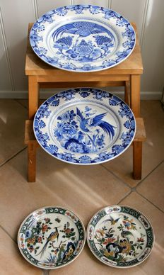 Porceleyne Fles - Four bird plates