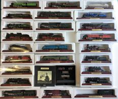 Atlas Editions - 25x Atlas editions locomotives 1:100 and 1 mini train Orient Express