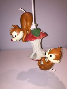 Disney, Walt - Figure - Chip and Dale on apple core (second half of 20th century)