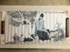 Ink figure painting made after Fan Zeng(范曾) - China - late 20th century