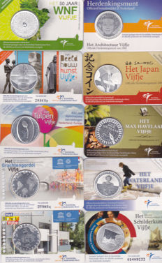 The Netherlands – 5 Euro coins 2008/2013 (20 pieces) in coin cards