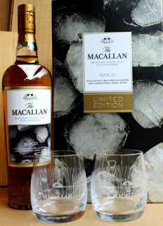 Macallan Gold Limited Edition with 2 Glasses 40%vol, 700ml, the shipping from Germany