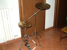 Hi-hat complete with cymbals stand Paiste 101 brass 14' Hi-hat and a 16''crash 101 brass cymbal with stand