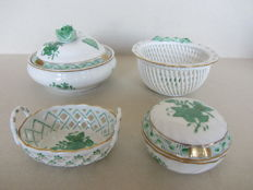 Herend porcelain - 4 items Chinese Bouquet Green