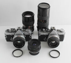 Olympus OM-2 set: 2 x OM-2, Zuiko and Tamron lenses and accessories