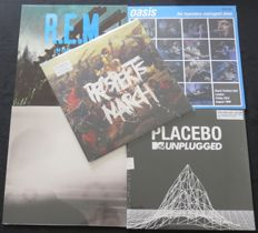 Coldplay / Placebo / Oasis / R.E.M. / Cold Specks: Great lot of 3 albums (4Lp's) + 2x 12inch EP's