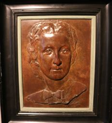 Eugène Jan de Bremaecker (1879-1963) - Large bronze relief plaque - dated 1942