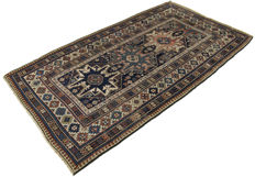 Very antique authentic original carpet, hand-wound in Shirvan Lesghy – Period:  1880–1900 – Collector's item – 195 × 110 cm – With certificate of authenticity by the official expert – (Galleriafarah1970)