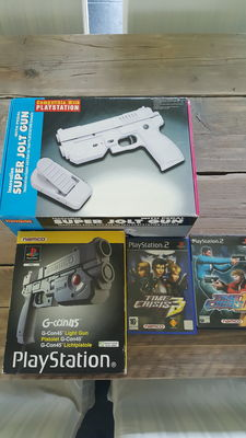 Namco ps2 gcon 45 and super jolt gun incl Ps2  time crisis 2&3
