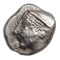 Ancient Greece – Ionia – Phokaia (521-478 BC) AR Trihemiobol, women's head