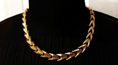Necklace in 18 kt yellow gold 1930-1940.