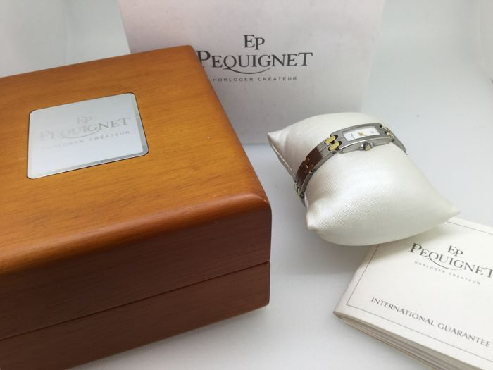 Pequignet watch steel Moorea baguette