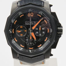 Corum Admiral's Cup Black Hull 48 Frost Chronograph Watch Limited Edition 9 Pieces