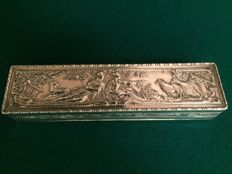 Rectangular embossed box in silver 925%, imported by Berthold Muller, England, Birmingham, 1914