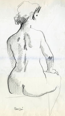 Original work; Celedonio Perellón - Girl backwards - c. 1995