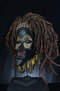 African ceremonial mask - CHOKWE - D.R. Congo