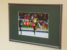 Elaine Thompson - Double Olympic champion 2016, 100 and 200 meter, hand-signed photo + COA.