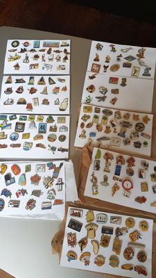 Lot of series of 193 pins - Pubs - BD - travel - boats - FR3 - Brittany