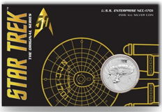 Australia - Star Trek Enterprise NCC 1701 - 1 oz 999 Silver Coin, Perth Mint - In a blister with certificate