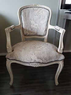 Original armchair in Louis XV style, 20th century