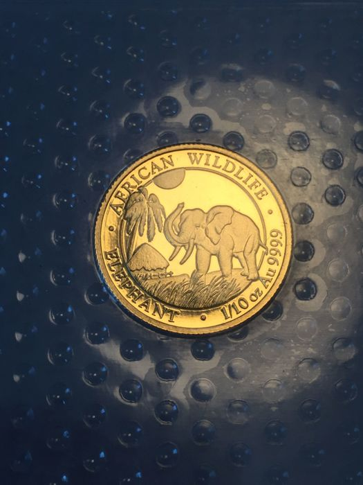 Somalia - 100 shillings 2017 'elephant' - 1/10 oz gold