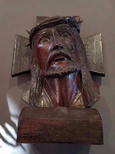 Head of the Crucified Christ in Noble Wood