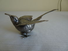 Dutch silver table piece in the shape of a bird