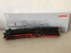 Märklin H0 - 39103 - Express train locomotive with oil tender BR 01.10 of the DB, with smoke generator