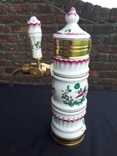 "Belgian beer pump in copper/porcelain ""Stella Artois"" 40 cm"