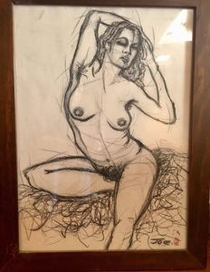 Original work; Joe Varko - Portrait of nude young girl - 2007