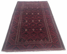 Vintage Afghan Hand Knotted Balouch Herati Area Rug 248 cm x 135 cm