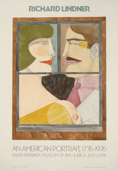 Richard Lindner - American Portrait - ca. 1976