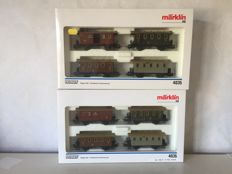 Märklin H0 - 4035 - 2 sets of Prussian passenger carriages
