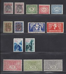 The Netherlands 1906/1933 – Various issues – NVPH 84/86, 102/103, 107/109, 132/133, 134/135, 236/237