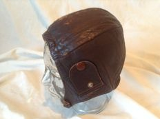 French leather Pilots Cap