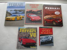 Lot 5 Italians car books Ferrari and Lamborghini