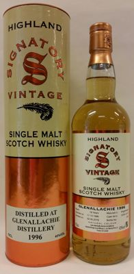 Glenallachie 19 years old - Vintage 1996 - Limited Edition bottled by Signatory Vintage (bottle No. 256)