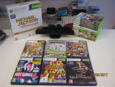 Nice Xbox 360 Lot, 10 normal games,5 kinect games and one special edition and original Kinect andNew Controller battery charger
