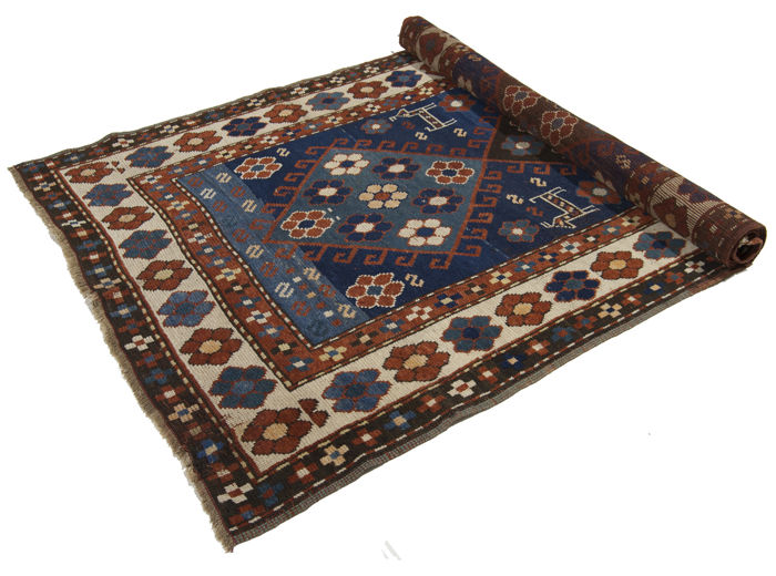 Russian Shirvan Azerbaijan rug in 100% wool, museum piece (187 x 100 cm), original Shirvan, hand-knotted (from 1880-1910) – Galleriafarah1970