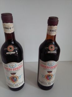 1962 Barone Ricasoli Brolio Riserva x 1 bottle - 1964 Barone Ricasoli Brolio Riserva x 1 bottle / 2 bottles in total