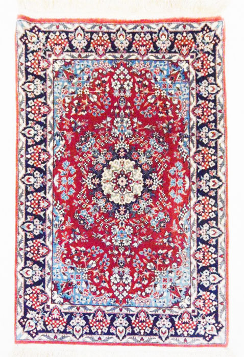 Persian carpet, very fine Isfahan with silk, 93 x 63 cm